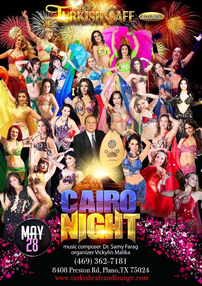 Cairo Nights in Dallas - starring Alla Kushnir, Maryam, Nathalie, featuring the music of Dr. Samy Farag and dancers from DFW and around the United States.